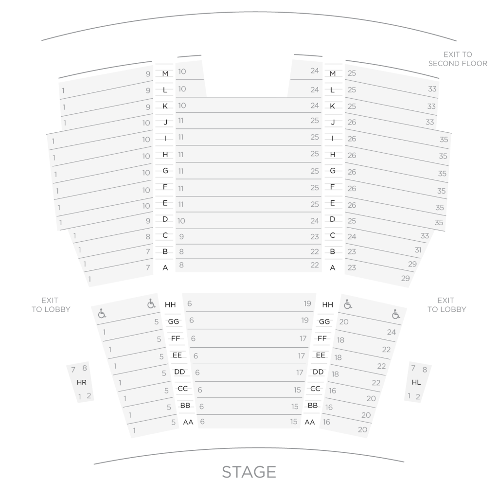 Loeb Drama Center Seat Map