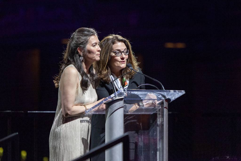 Diane Paulus and Diane Borger at the 2019 gala
