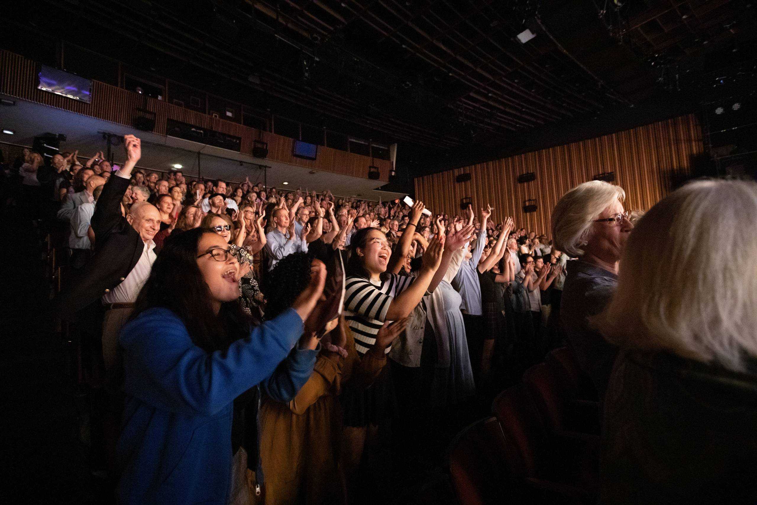 Audience applauding at Six the Musical